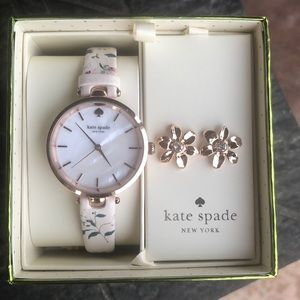 New In Box Kate Spade Watch and Earrings Gift set